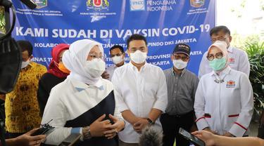 Menteri Ketenagakerjaan, Ida Fauziyah dalam perayaan May Day 2021.