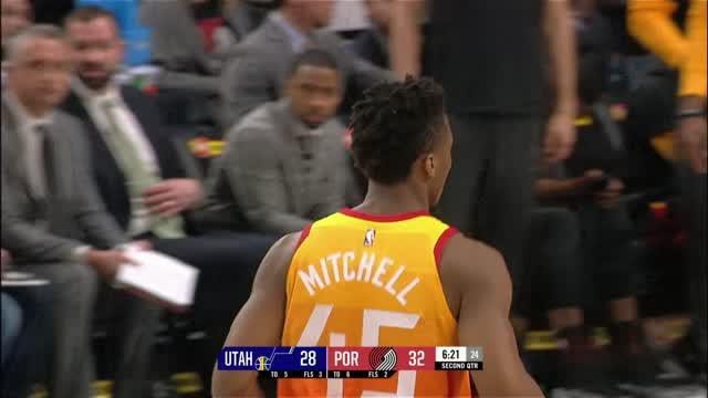 Berita video game recap NBA 2017-2018 antara Utah Jazz melawan Portland Trail Blazers dengan skor 115-96.