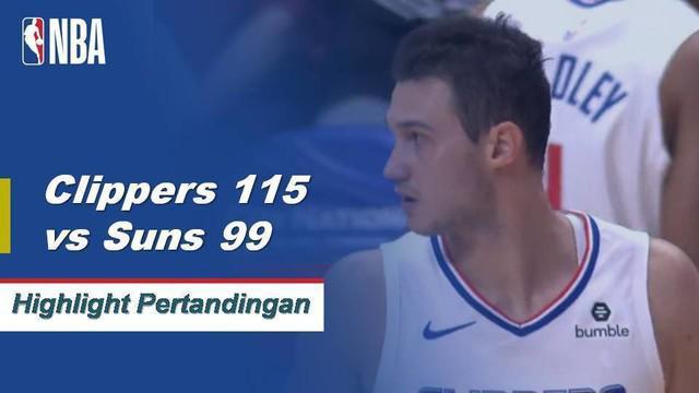 Danilo Gallinari mencetak 28 poin pada 70% tembakan, memimpin Clippers mengalahkan Suns, 115 - 99.