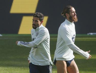 Melihat Latihan Spanyol Jelang Lawan Ukraina