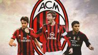 AC Milan - Kaka, Andriy Shevchenko, Thiago Silva (Bola.com/Adreanus Titus)