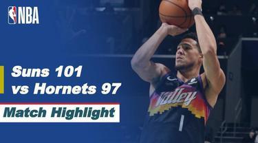 Berita video highlights laga musim reguler NBA 2020/2021 antara Charlotte Hornets melawan Phoenix Suns yang berakhir dengan skor 97-101, Senin (29/3/2021) pagi hari WIB.