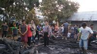 Balita selamat usai rumahnya terbakar. (Foto: Liputan6.com/Polres Pemalang/Muhamad Ridlo)