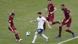 Lionel Messi masih belum menunjukkan performa terbaiknya di sepanjang gelaran Copa America 2019. (AP/Silvia Izquierdo)
