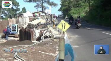 Perbaikan jalur puncak Cisarua, Bogor, Jawa Barat, akibat longsor, sudah mencapai 65 persen.