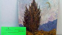 """Lukisan """"Cypress Sky and Country"""" oleh van Gogh ditemukan lagi setelah menghilang lebih dari 40 tahun lamanya."""