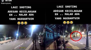Viral Video Orang Bantu Kecelakaan di Jalan Ini Ternyata Lagi Syuting, Kocak