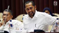 Dirut Perum Bulog Budi Waseso atau Buwas saat mengikuti Rapat Kerja (Raker) dengan Komisi IV DPR di Jakarta, Kamis (13/9). Raker tersebut membahas mengenai Kinerja Operasional Tahun 2018. (Liputan6.com/JohanTallo)