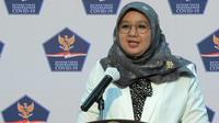 Juru Bicara Vaksinasi COVID-19 Kementerian Kesehatan RI Siti Nadia Tarmidzi di Istana Kepresidenan Jakarta, Senin (4/1/2021). (Biro Pers Sekretariat Presiden/Kris)