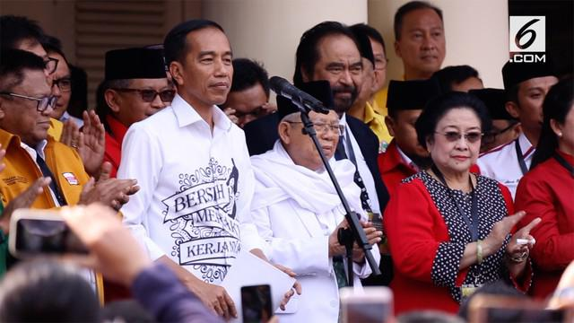 Presiden Jokowi menyebut Ma'ruf Amin adalah sosok yang utuh dan layak dijadikan sebagai calon Wakil Presiden yang mendampinginya dalam Pilpres 2019.