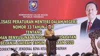 Sosialisasi Permendagri Nomor 33 Tahun 2019 tentang Pedoman Penyusunan Anggaran Pendapatan dan Belanja Daerah (APBD) Tahun Anggaran 2020.