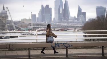 FOTO: Suasana London Saat Inggris Terapkan Lockdown Nasional Ketiga