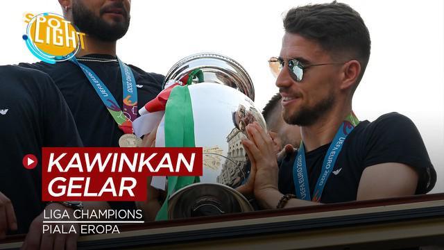 Berita video spotlight kali ini membahas tentang deretan pemain yang meraih juara Liga Champions dan Piala Eropa di tahun yang sama.