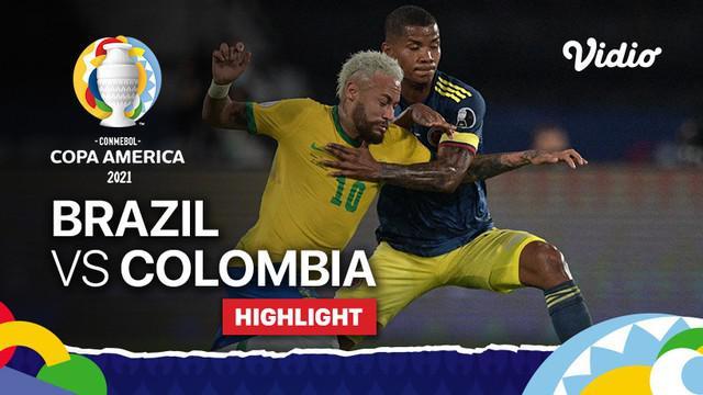 Berita video highlights laga Grup B Copa America 2021 antara Timnas Brasil melawan Kolombia yang berakhir dengan skor 2-1, Kamis (24/6/2021) pagi hari WIB.