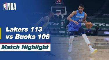 Berita Video Highlights NBA, LA Lakers Berhasil Meraih Kemenangan di Kandang Milwaukee Bucks (22/1/2021)