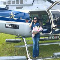 """Landing Manja Di Jakarta Di Suatu Sore Yg Ceria !!!"" begitulah tulis princessyahrini dalam video yang diunggahnya pada 11 Juli silam setelah perjalanan dari Sukabumi. (Instagram/princessyahrini)"