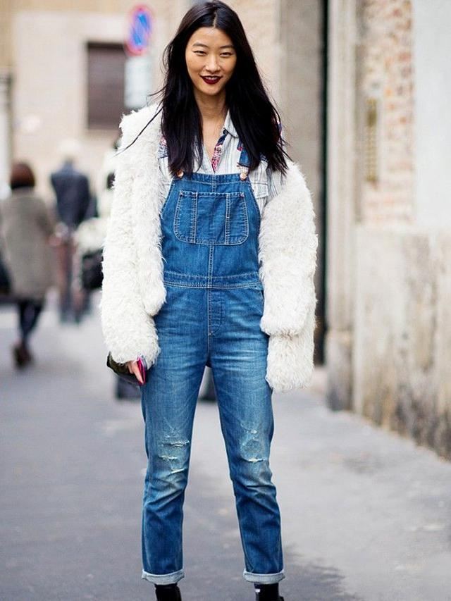 Image result for overall denim street style