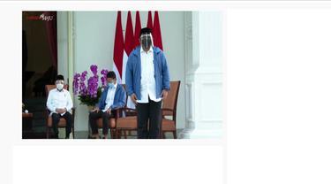 Reshuffle kabinet, Presiden Jokowi dan Wapres Ma'ruf Amin umumkan menteri baru di Istana Kepresidenan Jakarta