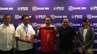 Penandatanganan MoU PSSI dan BRI untuk mendukung kegiatan Timnas Indonesia. (Istimewa)