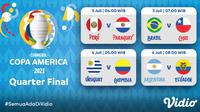Babak 8 besar Copa America 2021 dapat disaksikan melalui platform streaming Vidio. (Dok. Vidio)
