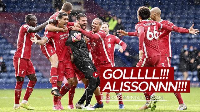 Berita video reaksi gokil dari seorang komentator asal Brasil, Paulo Andrade, saat Alisson Becker mencetak gol untuk Liverpool pada pekan ke-36 Liga Inggris 2020/2021.