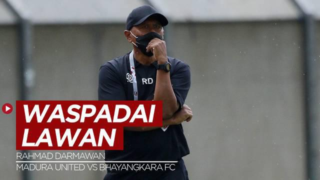Berita Video, Pelatih Madura United, Rahmad Darmawan Waspadai Permainan Bhayangkara FC
