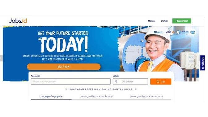 Situs pencari kerja (Sumber: Job.id)