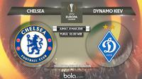 Jadwal 16 besar Liga Europa 2018-2019 leg-1, Chelsea vs Dynamo Kiev. (Bola.com/Dody Iryawan)