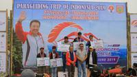 Kejurnas paralayang Trip of Indonesia di Wonosobo kemungkinan akan go international (dok: Kemenpora)