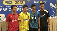 Pebulutangkis Indonesia siap bertarung di Kejurnas PBSI 2018. (Bola.com/Benediktus Gerendo Pradigdo)