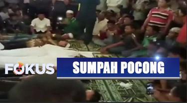 Dua orang di  Lampung Timur lakukan sumpah pocong karena bersengketa lahan.