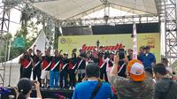 Jalan Sehat di CFD, KPI Ajak Masyarakat Peduli Tayang Berkualitas Jelang Pilpres 2019 (Liputan6.com/Ratu Annisaa)