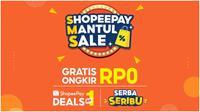 ShopeePay, penyedia layanan pembayaran digital terunggul di Indonesia, kembali menghadirkan kampanye ShopeePay Mantul Sale dari tanggal 25-27 Februari 2021 untuk mengajak masyarakat lebih cuan di momen gajian.