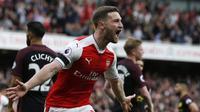 Pemain termahal peringkat kelima Arsenal adalah Shkodran Mustafi bergabung ke Arsenal dari Valencia dengan mahar sebesar 41 Juta Pounds.  (AFP/IKIMAGES/Ian Kington)