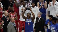 Kawhi Leonard sebagai MVP NBA All-Star 2020 (AP)
