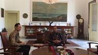 Komandan Kogasma Partai Demokrat AHY menemui Presiden Jokowi di Istana Kepresidenan Bogor. (Liputan6.com/Lizsa Egeham)