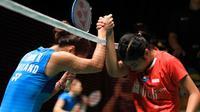Tunggal putri Indonesia, Gregoria Mariska Tunjung, takluk dari pemain Thailand, Ratchanok Intanon, pada babak pertama Malaysia Masters 2019, Rabu (16/1/2019). (PBSI)