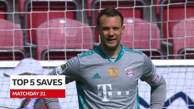 Berita Video 5 aksi penyelamatan terbaik di Bundesliga pekan 31, salah satunya aksi dari Manuel Neuer