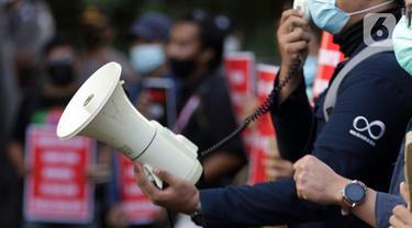 FOTO: Aksi Dukungan Bagi 75 Pegawai KPK