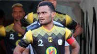 Rizky Pora, gelandang sekaligus kapten Barito Putera. (Bola.com/Aditya Wany)