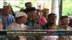 Seorang petani yang tengah berladang tewas terkena peluru nyasar milik anggota TNI AU yang sedang latihan.