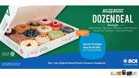 Kini, Anda bisa menikmati donat Krispy Kreme lebih banyak dan lebih hemat karena terdapat promo menarik dari BCA