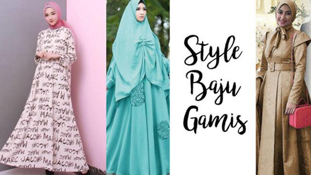 Intip 3 Style Baju Gamis Kombinasi Dan Hijab Segi Empat Fashion Beauty Liputan6 Com