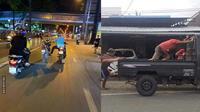 6 Aksi Orang Dorong Kendaraan di Jalan Raya Ini Bikin Geleng Kepala (sumber: 1cak.com)