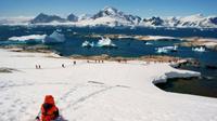ilustrasi ilmuwan sains di pegunungan. (iStockphoto)