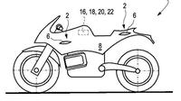 Sebuah gambar paten yang memperlihatkan perangkat aero terbaru dari BMW Motorrad beredar di media sosial