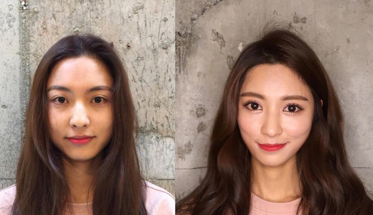 kayak habis oplas: foto wanita korea before after make up - fimela