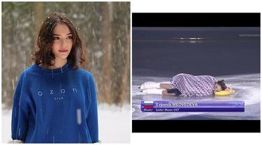8 Pesona Evgenia Medvedeva, Atlet Ice Skating Rusia yang Viral di Media Sosial