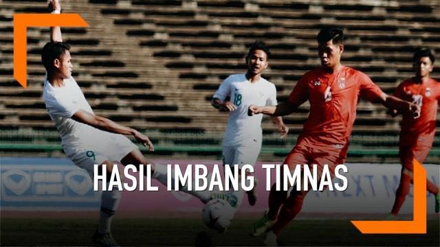 Timnas Indonesia U-22 harus puas bermain imbang 1-1 melawan Myanmar U-22.