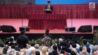 Calon Wakil Presiden nomor urut 02 Sandiaga Uno saat pidato kebangsaan di JCC, Jakarta, Senin (14/1) malam. Pidato kebangsaan mengusung Indonesia Menang dengan memaparkan visi misi lima tahun ke depan bila terpilih. (merdeka.com/Iqbal S Nugroho)